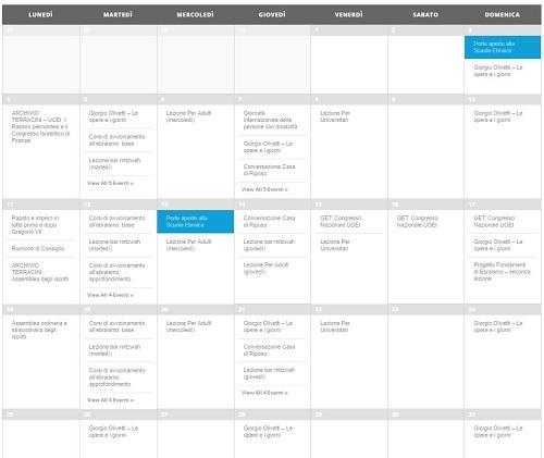 Calendario Ebreo.Calendario Degli Appuntamenti Eventi Torino Ebraica